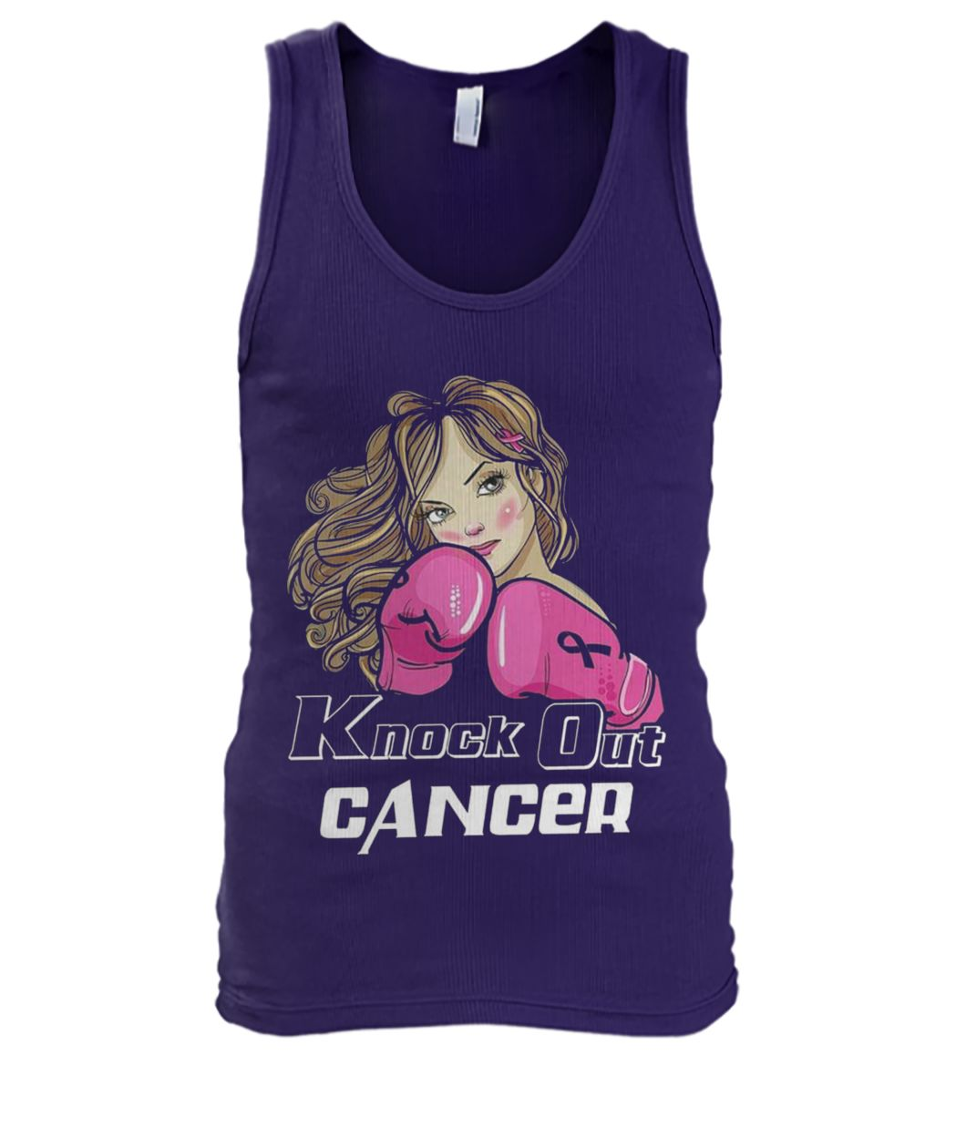 Knock out breast cancer men's tank top