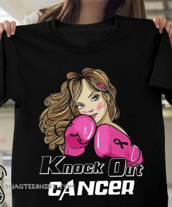 Knock out breast cancer shirt