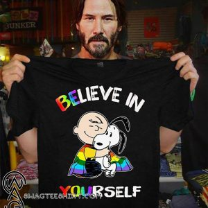 LGBT charlie brown and snoopy believe in yourself shirt