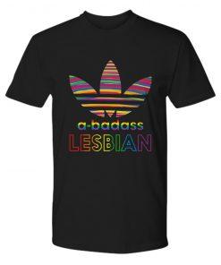 Lesbian pride a-badass premium tee