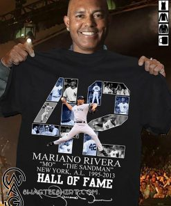 Mariano rivera 42 new york yankees signature shirt
