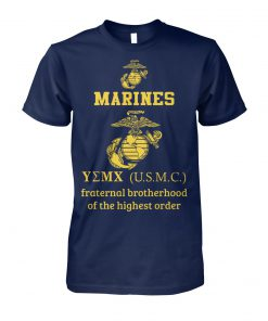 Marine corps fraternal brotherhood of the highest order unisex cotton tee