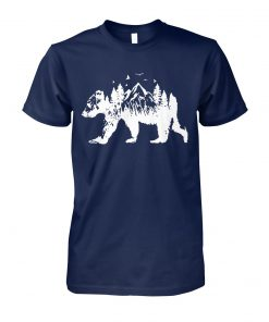 Mountains bear unisex cotton tee