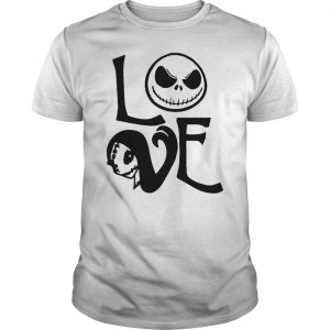 Nightmare before christmas jack and sally love unisex shirt