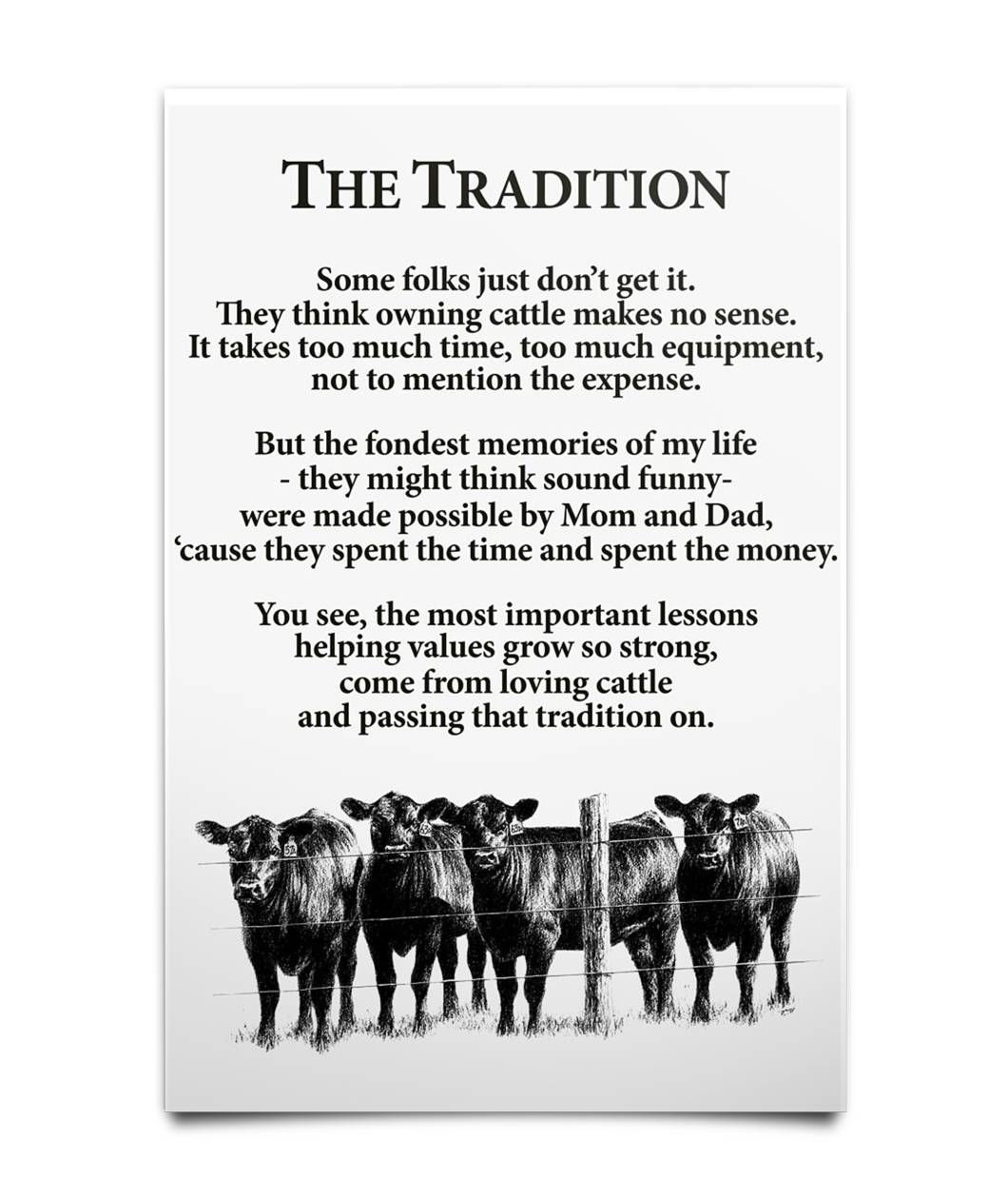 Original Farmer the tradition some folks don't get it poster