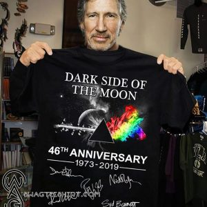 Pink floyd dark side of the moon 46th anniversary 1973-2019 signatures shirt
