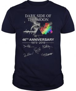 Pink floyd dark side of the moon 46th anniversary 1973-2019 signatures unisex shirt