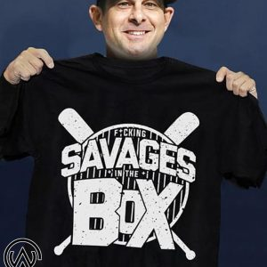 Savages in the box new york yankees shirt