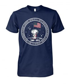 Snoopy 50 anniversary apollo 11 moon landing 1969 2019 unisex cotton tee