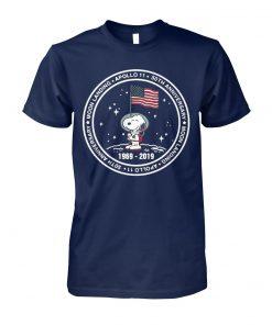 Snoopy 50 anniversary apollo 11 moon landing 1969 2019 unisex cotton tee