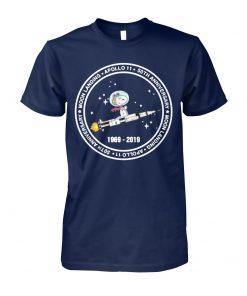 Snoopy moon landing apollo 11 50th anniversary moon landing unisex cotton tee
