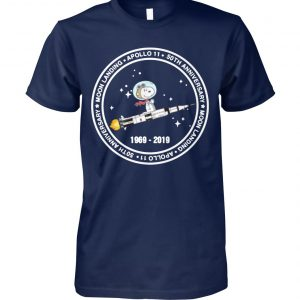 Snoopy moon landing apollo 11 50th anniversary moon landing unisex cotton tee