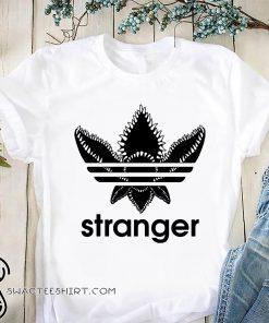 Stranger things adidas logo shirt