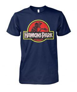 Stranger things hawkins park jurassic park unisex cotton tee