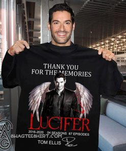 Thank you for the memories lucifer 2016-2020 04 season 67 episodes tom ellis signature shirt