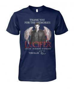 Thank you for the memories lucifer 2016-2020 04 season 67 episodes tom ellis signature unisex cotton tee