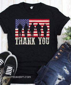 Thank you veterans fourth of july american flag shirt
