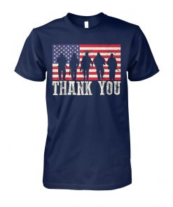 Thank you veterans fourth of july american flag unisex cotton tee