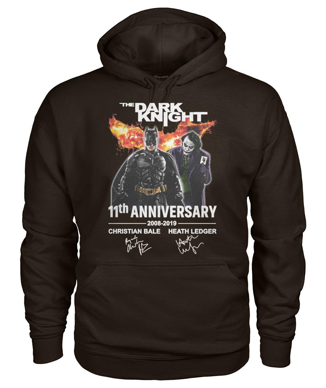 The dark knight 11th anniversary 2008-2019 signatures gildan hoodie