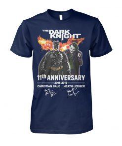 The dark knight 11th anniversary 2008-2019 signatures unisex cotton tee