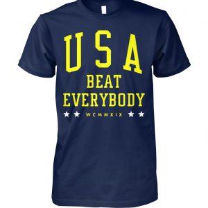 USA beat everybody WCNNXIX unisex cotton tee