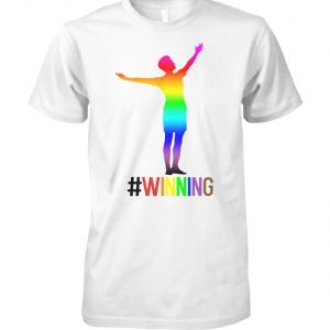 USA women soccer megan rapinoe winning lgbt pride unisex cotton tee