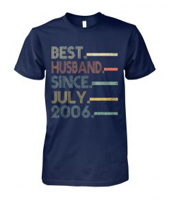 Vintage best husband since july 2006 unisex cotton tee