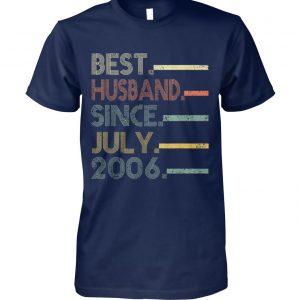 Vintage best husband since july 2006 unisex cotton tee