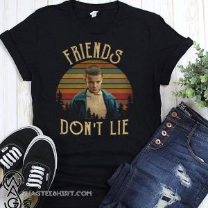 Vintage stranger things elle eleven friends don't lie shirt