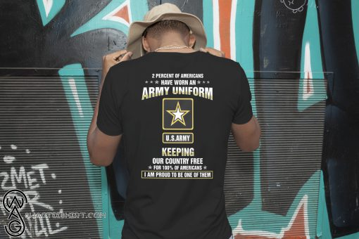 2 percent of americans have worn an army uniform US army shirt