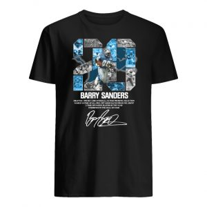 20 barry sanders detroit lions hall of fame signature men's shirt