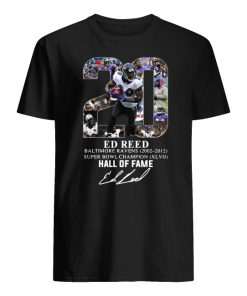 20 ed reed baltimore ravens hall of fame signature men's shirt