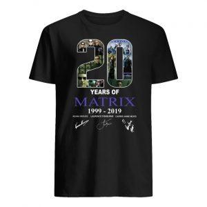 20 years of matrix 1999-2019 signatures men's shirt