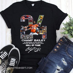 24 champ bailey denver broncos hall of fame signature shirt
