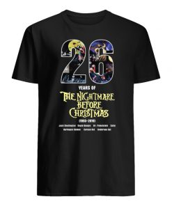 26 years of the nightmare before christmas 1993-2019 men's shirt
