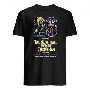 26 years of the nightmare before christmas 1993-2019 men's shirt