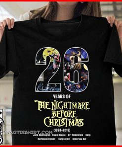 26 years of the nightmare before christmas 1993-2019 shirt