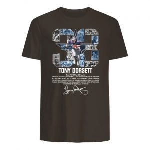 33 tony dorsett dallas cowboys running back signature men's shirt