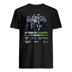 45 years of seahawks 1947-2019 signatures men's shirt