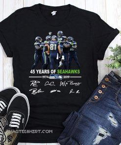 45 years of seahawks 1947-2019 signatures shirt