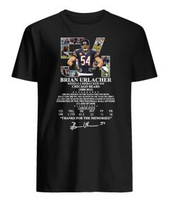 54 brian urlacher middle linebacker chicago bears thank you for the memories signature men's shirt