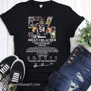 54 brian urlacher middle linebacker chicago bears thank you for the memories signature shirt