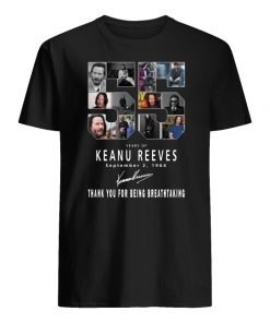 55 years of keanu reeves thank you for being breathtaking men's shirt