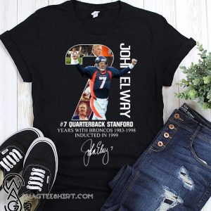 7 john elway quarterback stanford years with broncos signature shirt