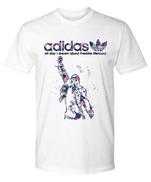 Adidas all day I dream freddie mercury premium tee
