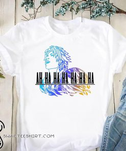 Ah ha ha final fantasy tidus shirt