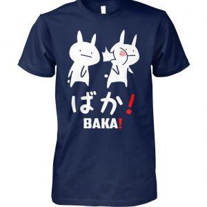 Anime baka rabbit slap japanese unisex cotton tee