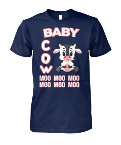 Baby cow moo moo moo unisex cotton tee