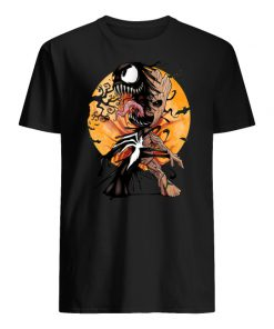 Baby groot venom moon halloween men's shirt