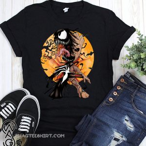 Baby groot venom moon halloween shirt